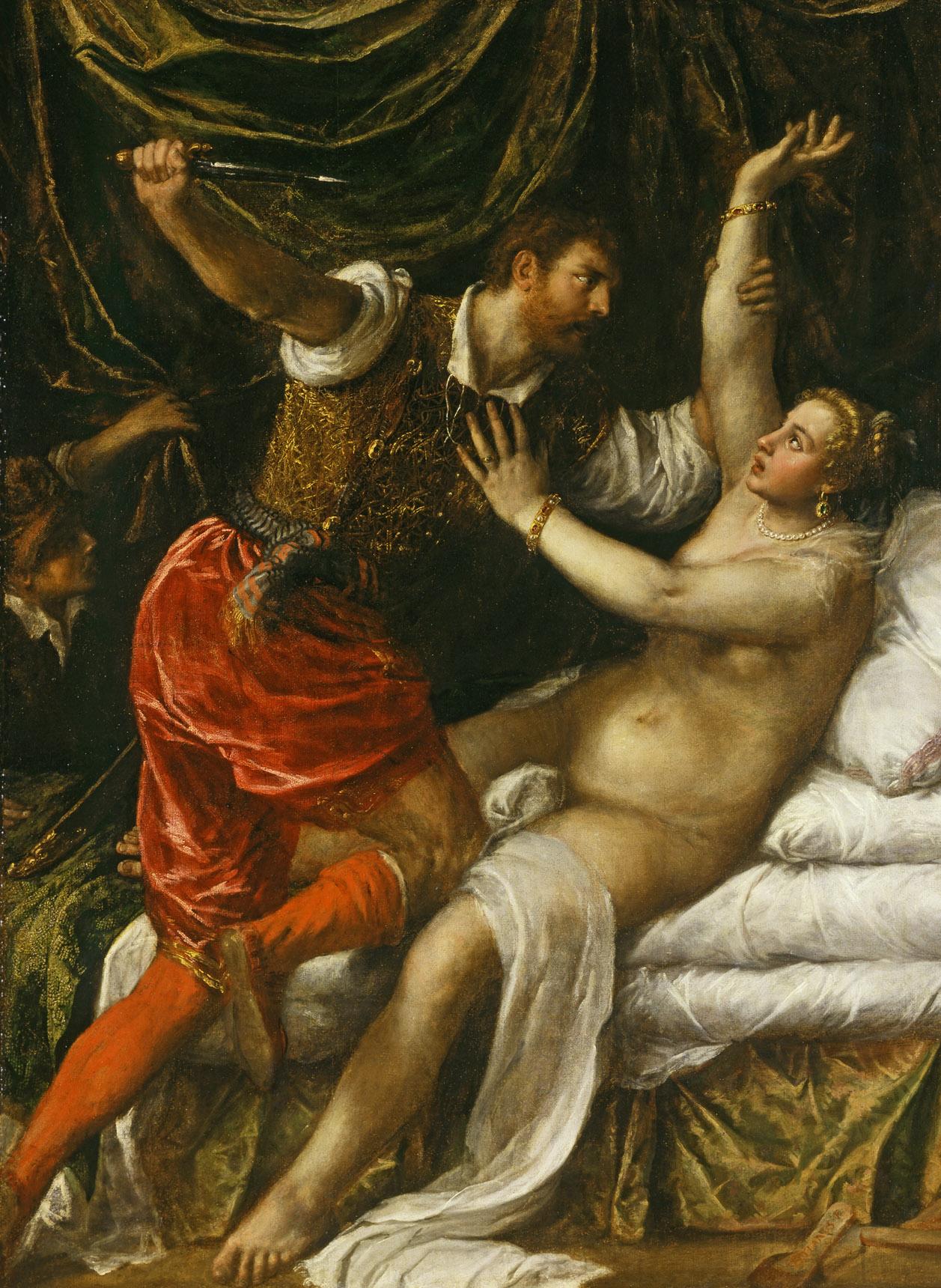 Tarquin and Lucretia by Tiziano Vecellio (Titian)