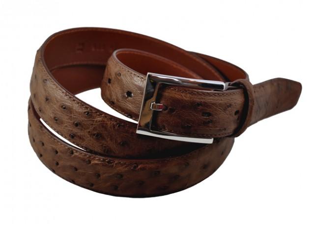 Une ceinture en cuir d'autruche Stark and Sons
