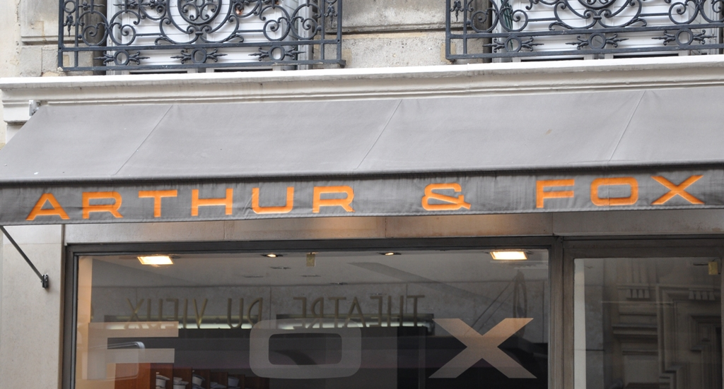 La boutique Arthur & Fox de la rue du vieux Colombier à Paris