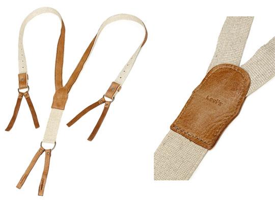 Une paire de bretelles destinée aux pantalons prévus à cet usage