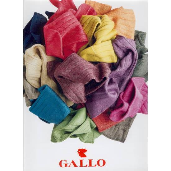 Les mi-bas et chaussettes colorés de l'italien Gallo