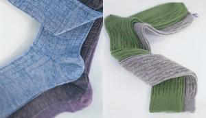 Des chaussettes en laine, à côtes ou torsadées