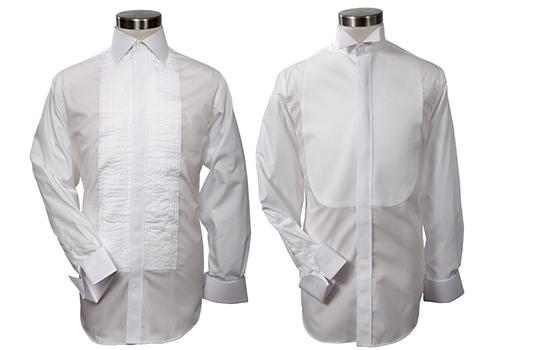 deux chemises plastrons lune col classique et plastron pliss - Chemise Col Cass Mariage