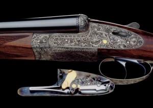 Un fusil Lebeau-Courally juxtaposé à platines démontables