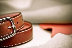 Une boucle de ceinture en argent