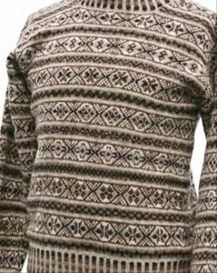 Les motifs caractéristiques d'un pull Shetland