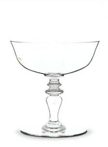 Une coupe de champagne en cristal