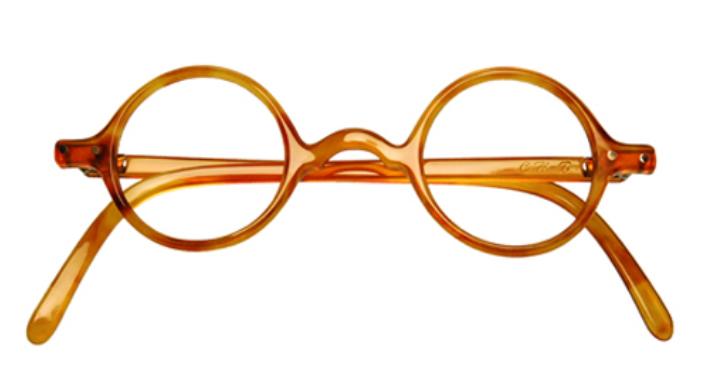 Une monture ronde de lunettes d'écaille de tortue véritable
