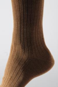Une chaussette à côtes en laine