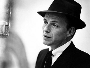 Frank Sinatra avec un pince-col