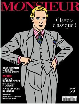 cravate cachemire couverture du magazine Monsieur