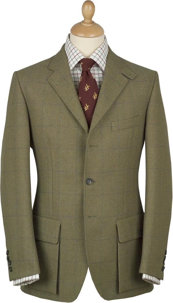 Une veste en tweed flanquée de poches à soufflets
