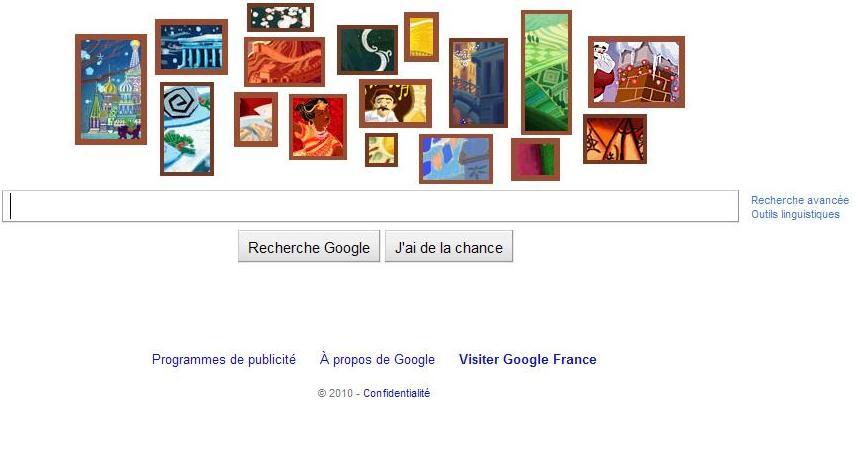 Google vous souhaite à tous de bonnes fêtes !