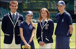 La tenue Ralph Lauren des arbitres et ramasseur de balles à Wimbledon