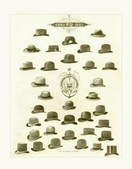 La collection de chapeaux Borsalino en 1887