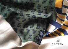 Une bien jolie rareté : un tube en soie de la maison Lanvin, datant probablement des années 1960.