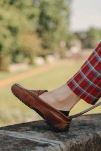 socquettes homme invisible portées dans des mocassins